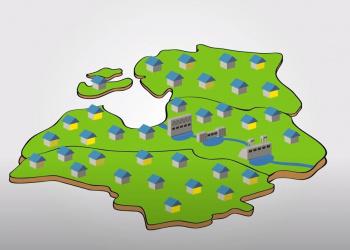 Elektroenerģijas ražošana Daugavas HES, animācija